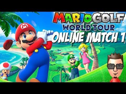 Mario Golf World Tour Online Multiplayer Gameplay Footage - Nintendo 3DS