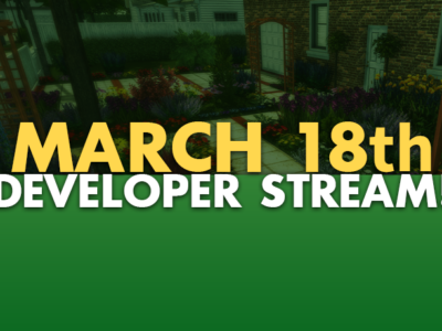 Developer Stream – We're going LIVE on March 18!